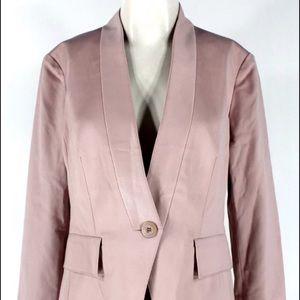 St. John knits pink silk blazer EUC. 8. MSRP 1200